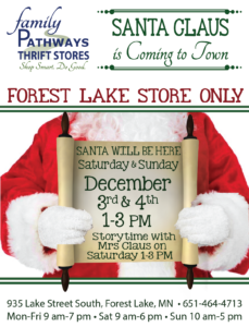 Santa is Coming to Family Pathways @ Family Pathways | Forest Lake | Minnesota | United States
