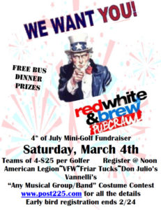 4th Annual Red, White and Brew Mini Golf Pub Crawl @ American Legion Post 225  | Forest Lake | Minnesota | United States